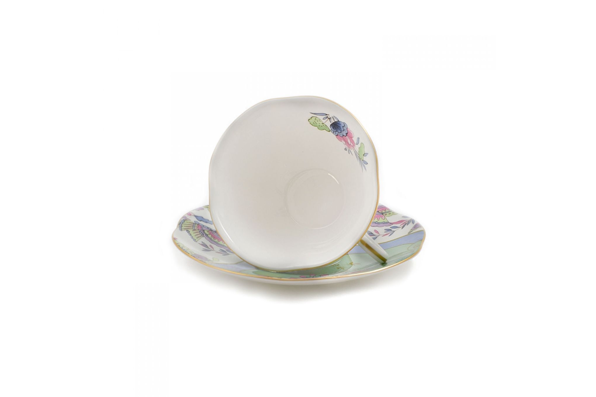 Wedgwood Butterfly Bloom Teacup & Saucer Green thumb 4