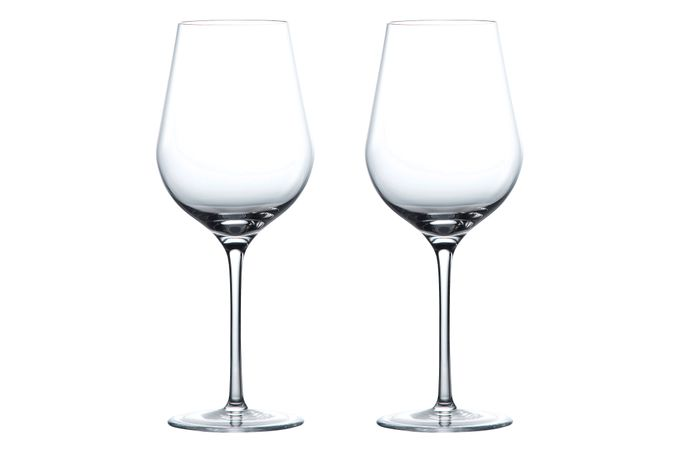 Wedgwood Globe Pair of White Wine Glasses