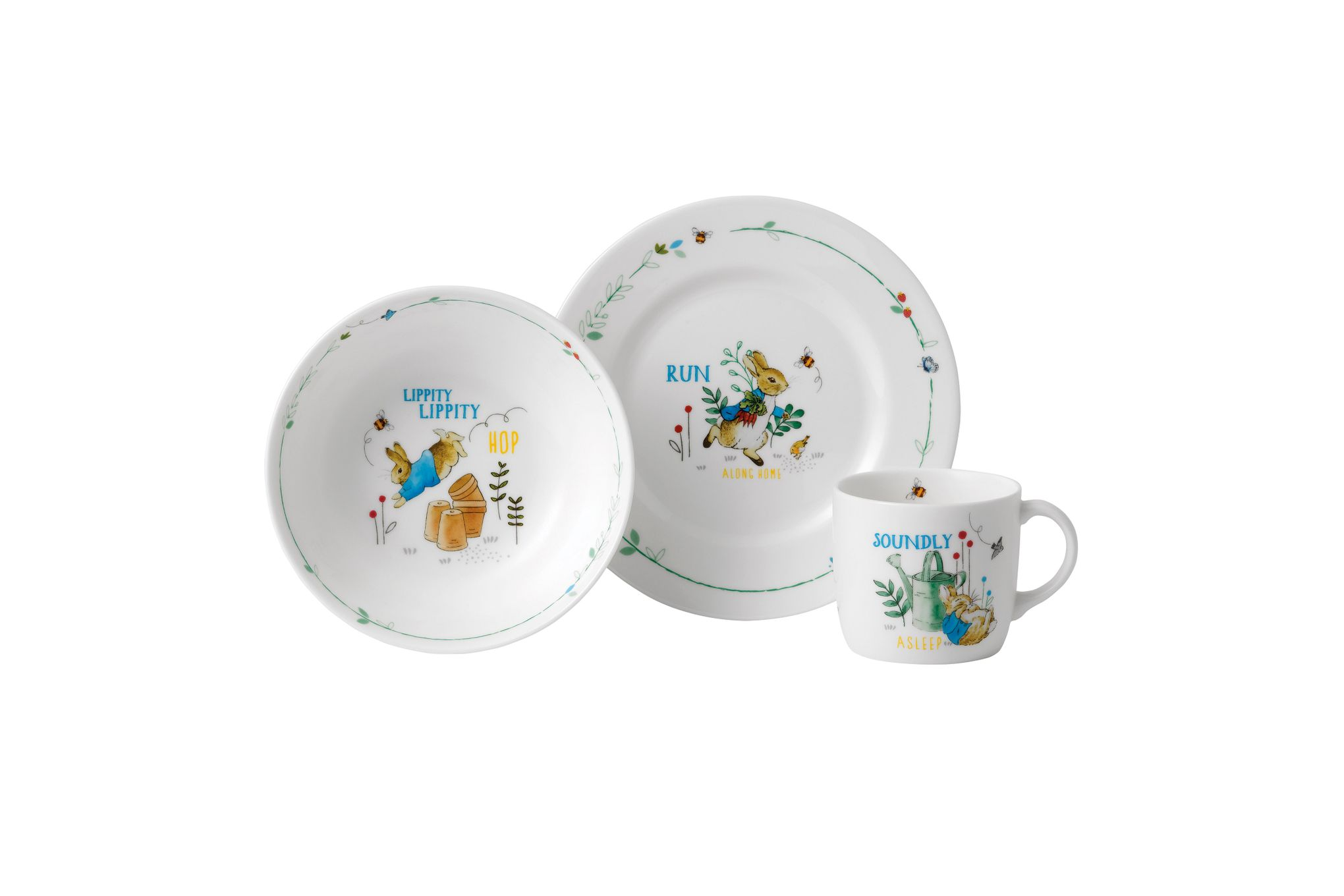 Wedgwood Peter Rabbit 3 Piece Set Blue thumb 1