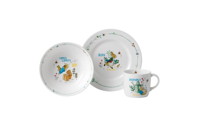 Wedgwood Peter Rabbit 3 Piece Set Blue
