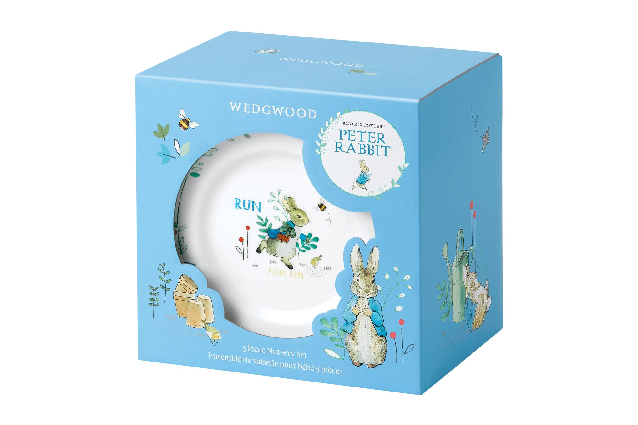 Wedgwood Peter Rabbit 3 Piece Set Blue thumb 2
