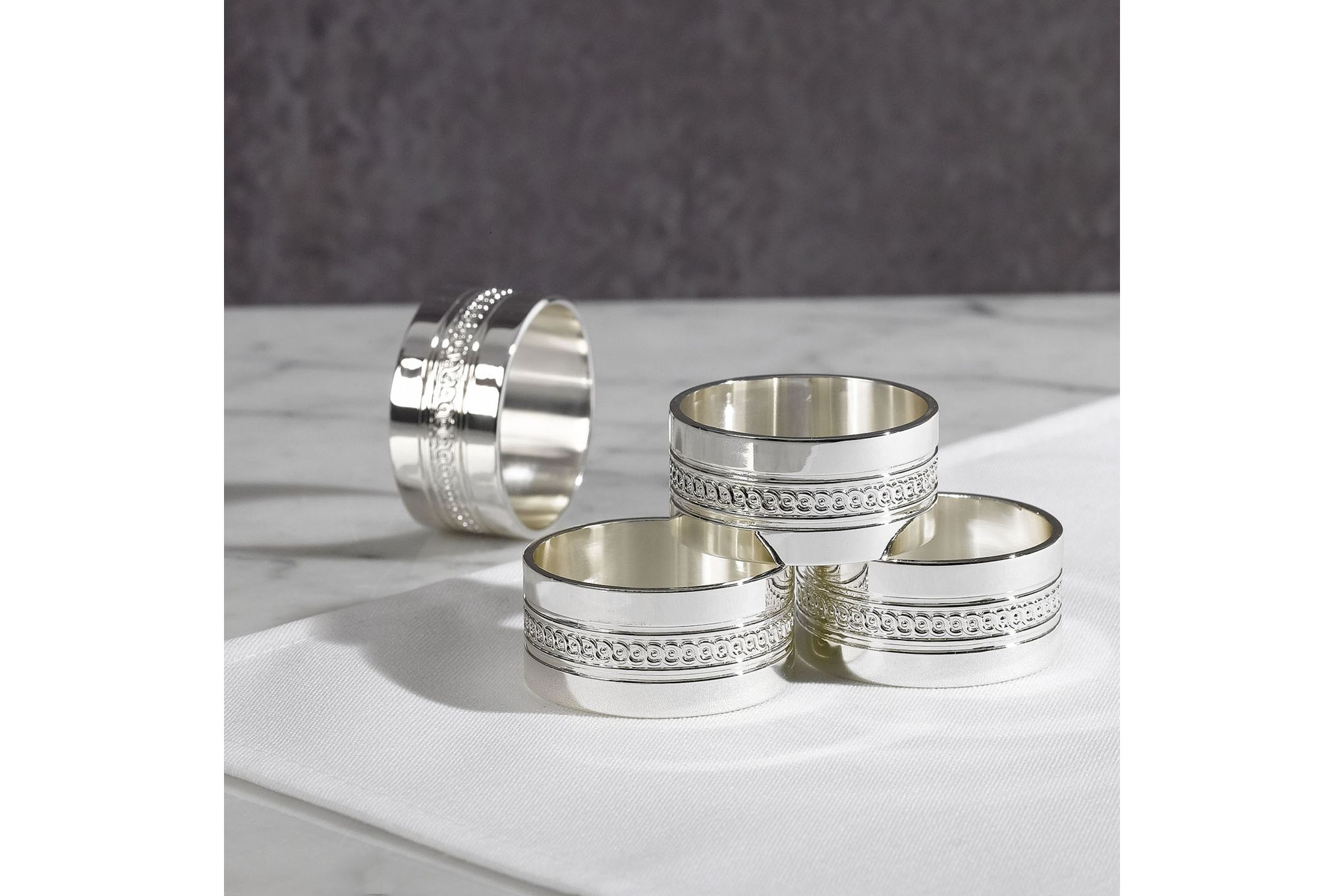 Wedgwood Simply Wish Napkin Rings Set of 4 thumb 2