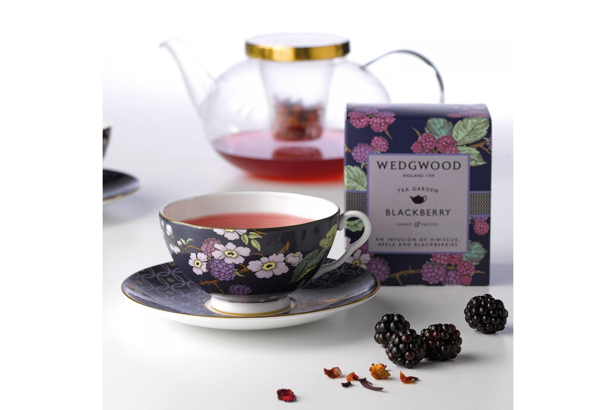 Wedgwood Tea Garden 3 Piece Set Plate 21cm, Teacup & Saucer Blackberry thumb 2
