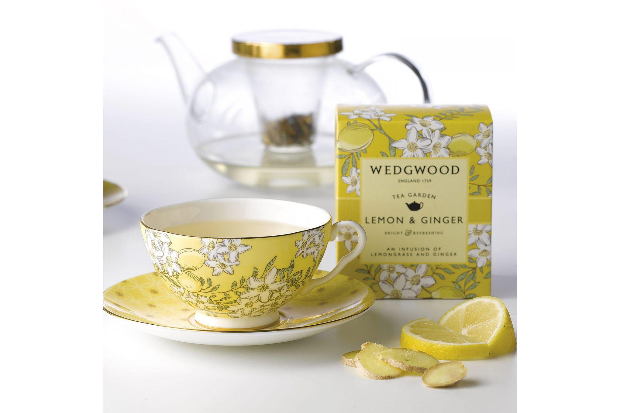 Wedgwood Tea Garden 3 Piece Set Plate 21cm, Teacup & Saucer Lemon & Ginger thumb 2