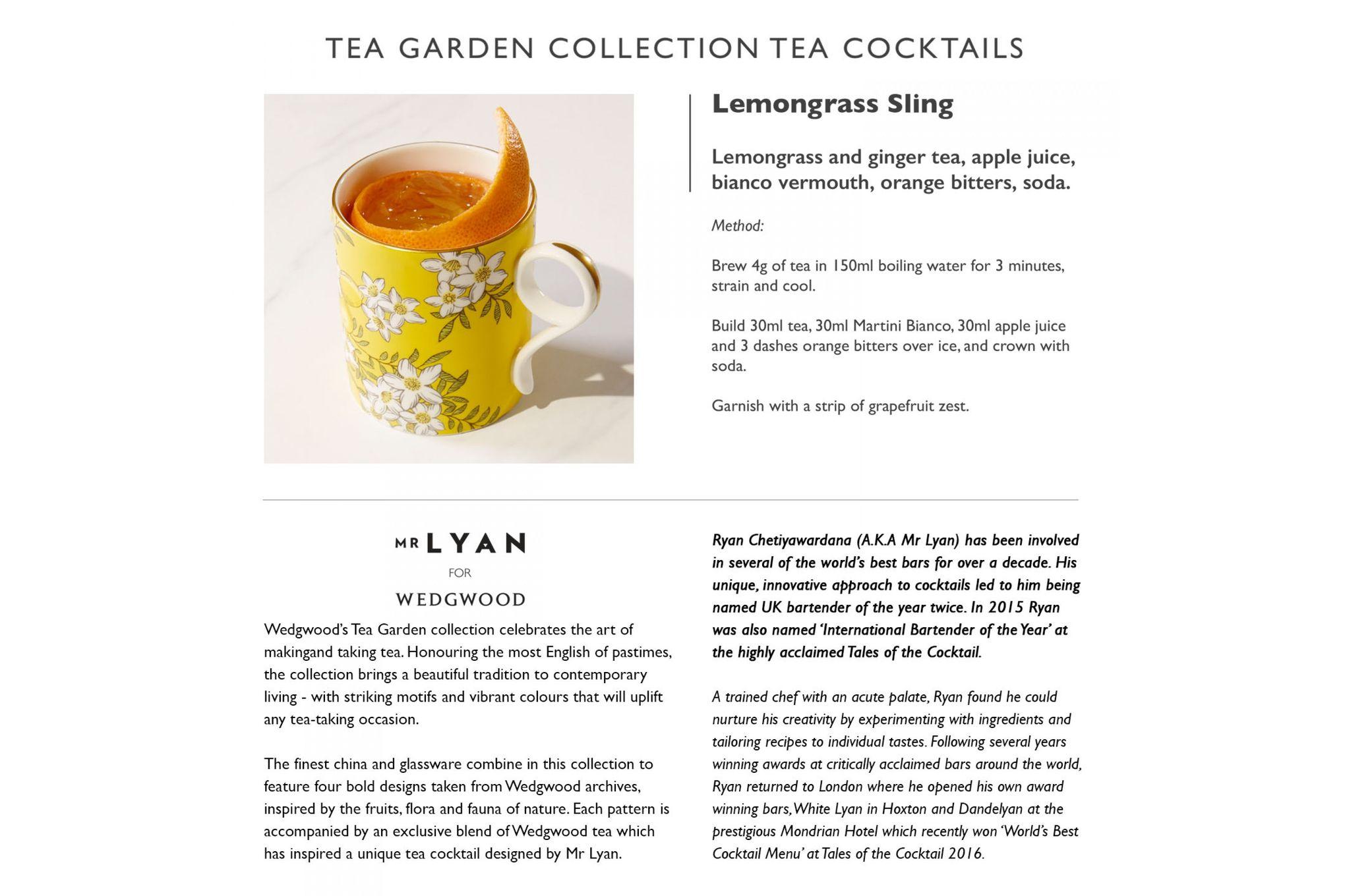 Wedgwood Tea Garden 3 Piece Set Plate 21cm, Teacup & Saucer Lemon & Ginger thumb 3