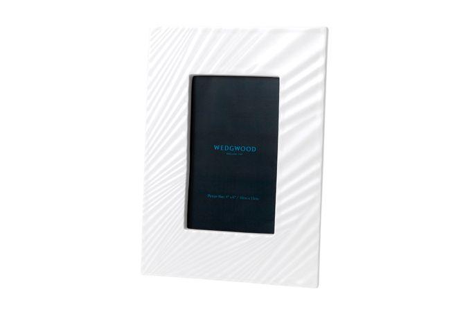 "Wedgwood Folia Photo Frame White Folia 4 x 6"""