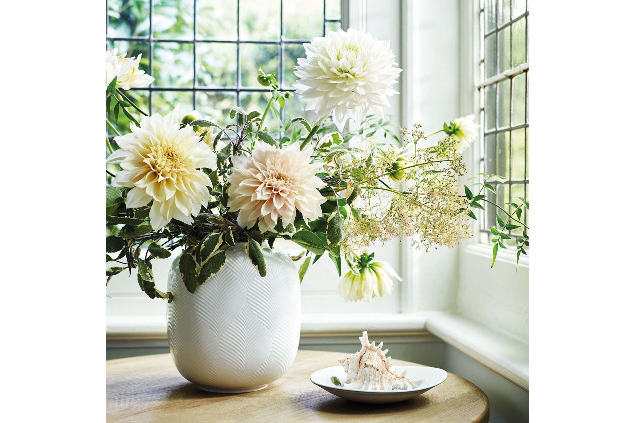 Wedgwood White Folia Vase 21cm thumb 2