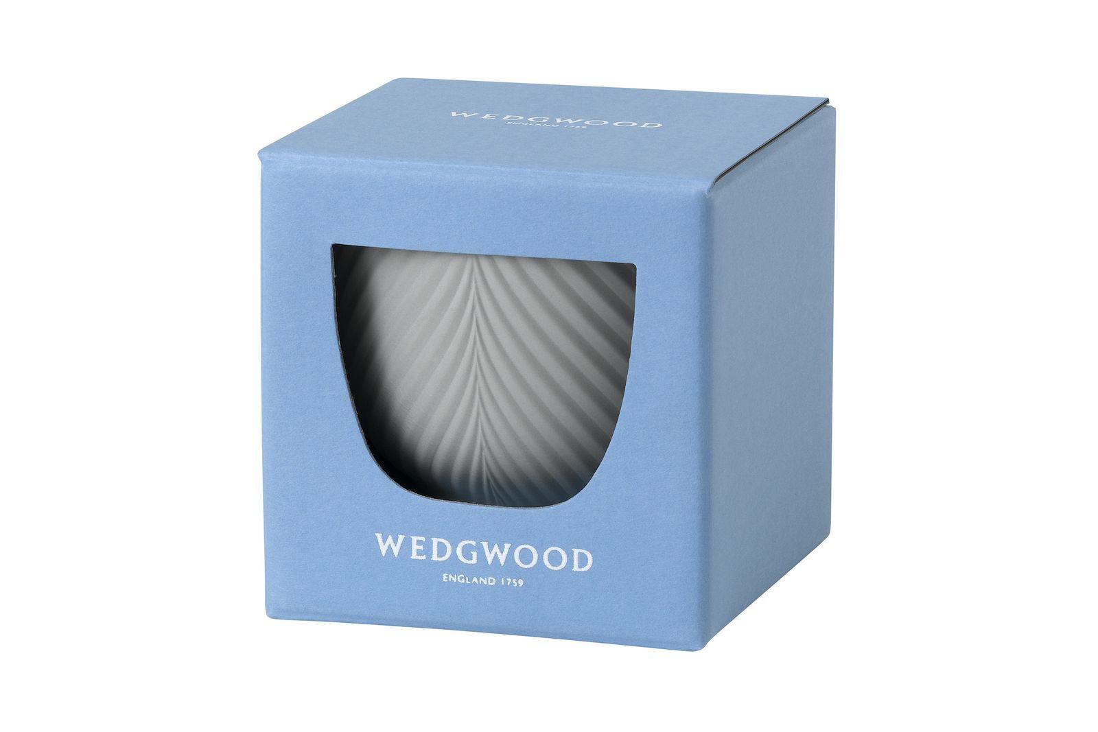 Wedgwood Folia Mini Pot Jasper Folia Dove Grey 8.2cm thumb 2