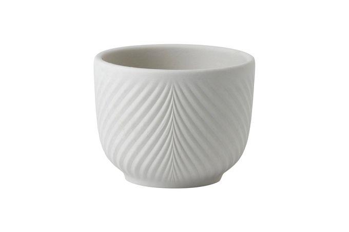 Wedgwood Folia Mini Pot Jasper Folia Warm White 8.2cm