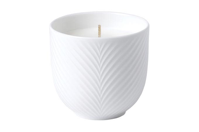 Wedgwood Folia Candle White Folia 10 x 10cm