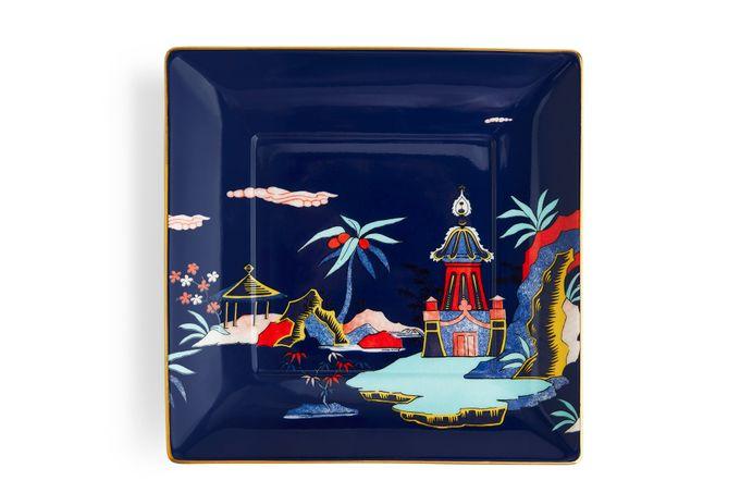 Wedgwood Wonderlust Tray (Giftware) Blue Pagoda - Boxed 14.5cm