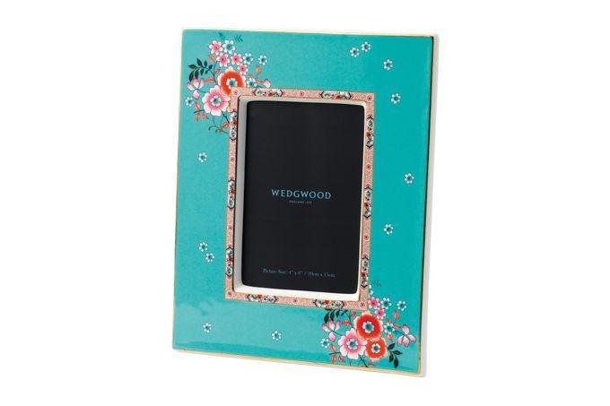 """Wedgwood Wonderlust Photo Frame Camellia - Boxed 4 x 6"""""""