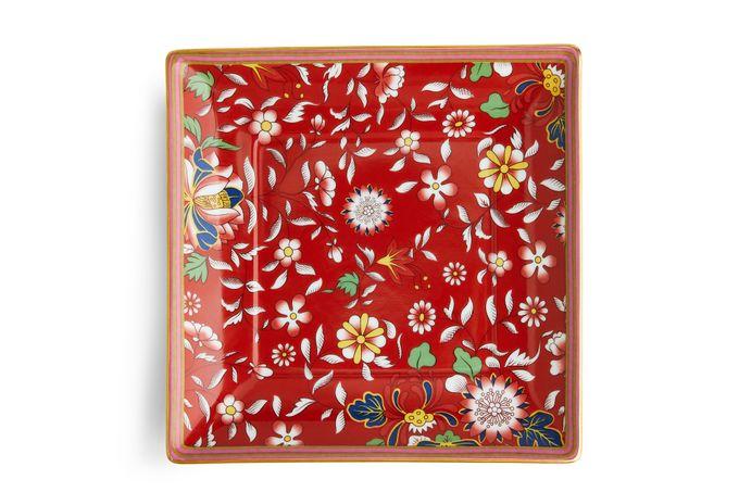 Wedgwood Wonderlust Tray (Giftware) Crimson Jewel - Boxed 14.5cm