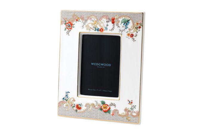 "Wedgwood Wonderlust Photo Frame Rococo Flowers - Boxed 4 x 6"""