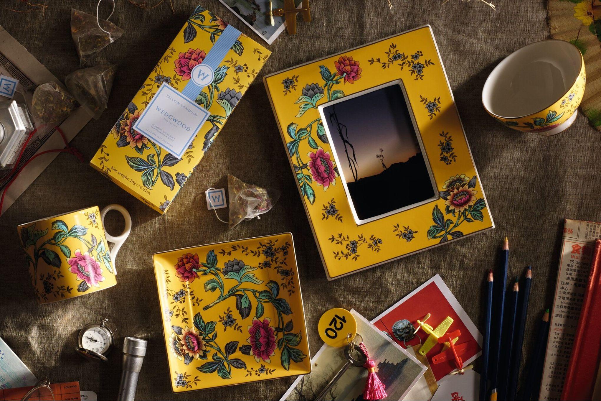 Wedgwood Wonderlust Keyring Yellow Tonquin - Boxed thumb 3