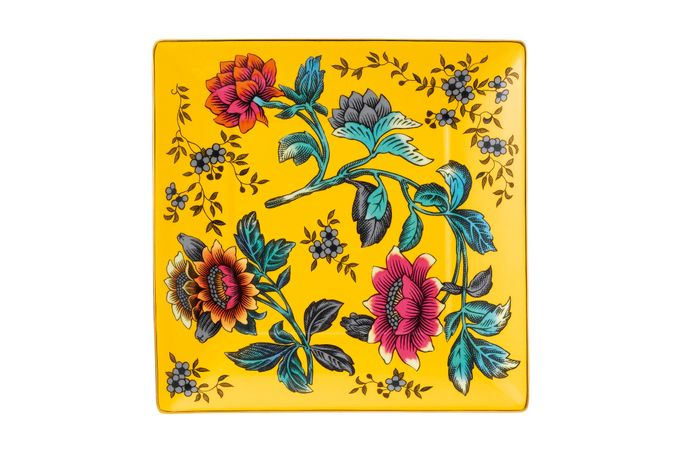 Wedgwood Wonderlust Tray (Giftware) Yellow Tonquin - Boxed 14.5cm