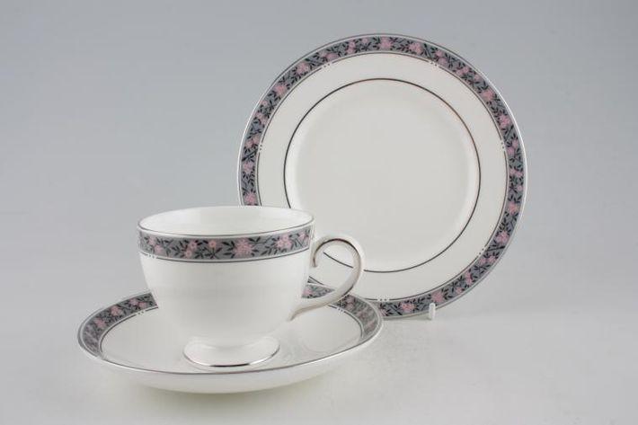 Wedgwood Fairmont - Grey Band - Pink Flowers