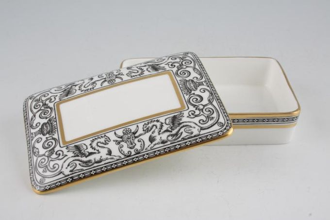 "Wedgwood Florentine - Black - W4312 Cigarette Box 5 x 3 3/4"""