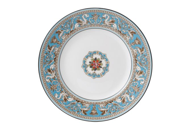Wedgwood Florentine - Turquoise Breakfast / Salad / Luncheon Plate 9""