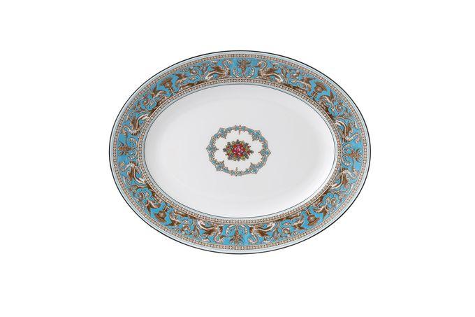 "Wedgwood Florentine - Turquoise Oval Plate / Platter 14"""