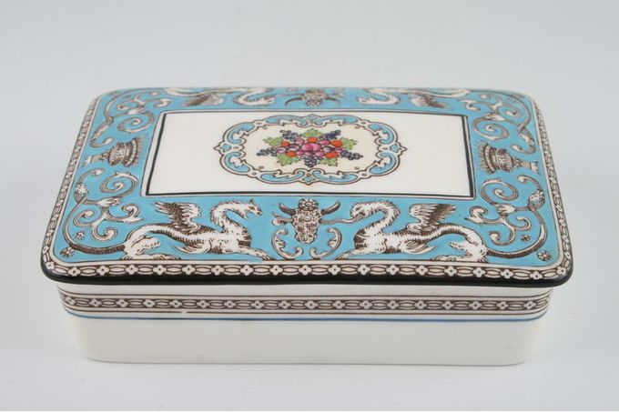 Wedgwood Florentine - Turquoise Cigarette Box