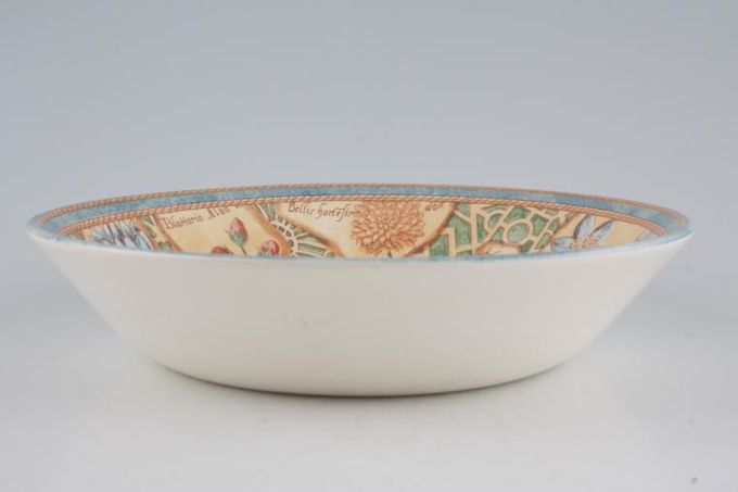 """Wedgwood Garden Maze Oatmeal / Cereal / Soup Shallow 7 1/4"""""""