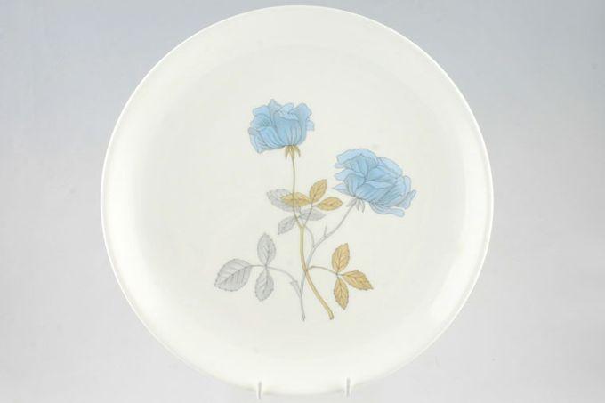 "Wedgwood Ice Rose Breakfast / Salad / Luncheon Plate Deep, Green B/S, 4 3/4"" ridge on underside 8 7/8"""