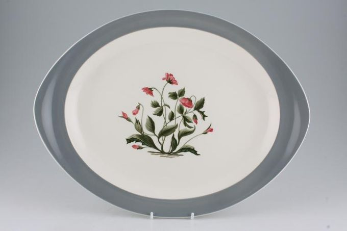 """Wedgwood Mayfield - Grey Oval Plate / Platter 15"""""""