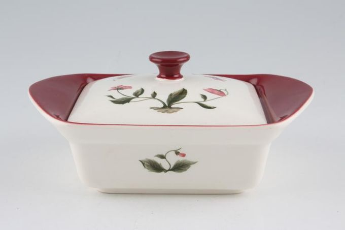 Wedgwood Mayfield - Ruby Butter Dish + Lid
