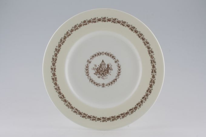 Wedgwood Appledore - Brown + Cream Dinner Plate 10 1/2""