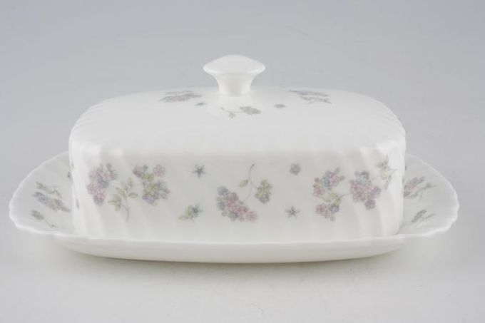 Wedgwood April Flowers Butter Dish + Lid