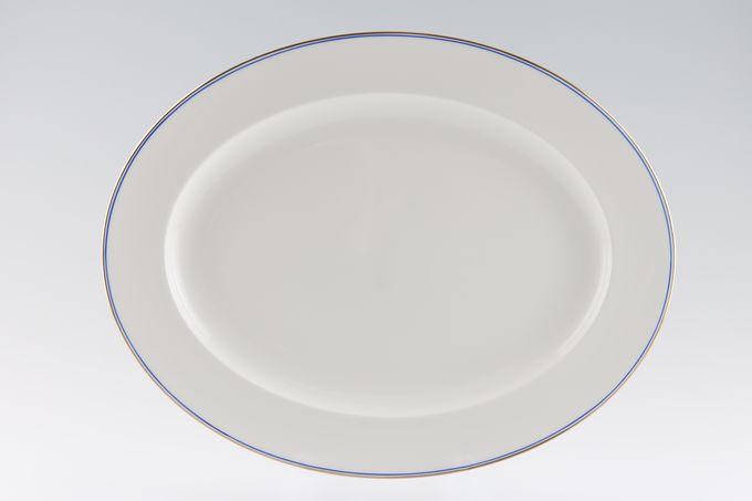 """Wedgwood Mystique Blue Oval Plate / Platter 14 1/8"""""""