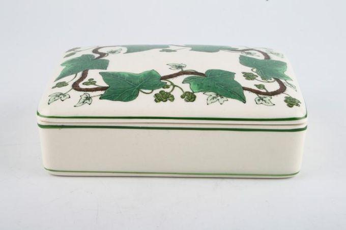 Wedgwood Napoleon Ivy - Green Edge Cigarette Box
