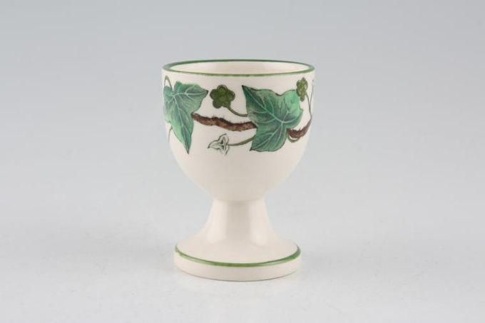 """Wedgwood Napoleon Ivy - Green Edge Egg Cup footed 1 7/8 x 2 1/2"""""""