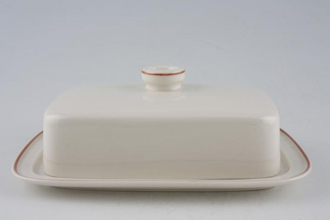 Wedgwood Peach - Sterling Shape Butter Dish + Lid