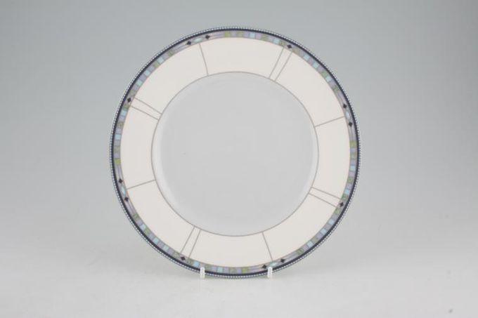 "Wedgwood Quadrants Starter / Salad / Dessert Plate Accent Blue Centre 8"""