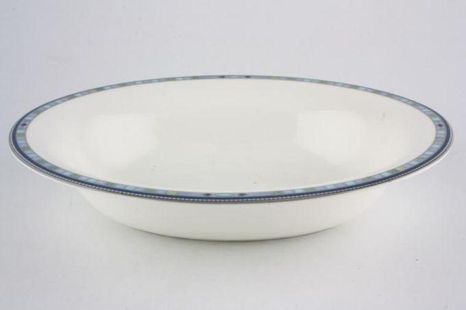 """Wedgwood Quadrants Vegetable Dish (Open) 9 5/8"""""""