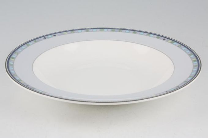 Wedgwood Quadrants Rimmed Bowl 9""