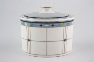 Tea Wedgwood Quadrants Lidded Sugar Bowl - 63805G