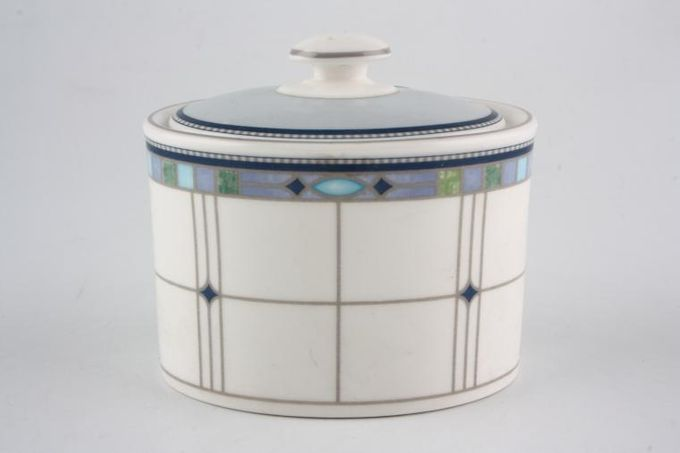 Wedgwood Quadrants Sugar Bowl - Lidded (Tea)