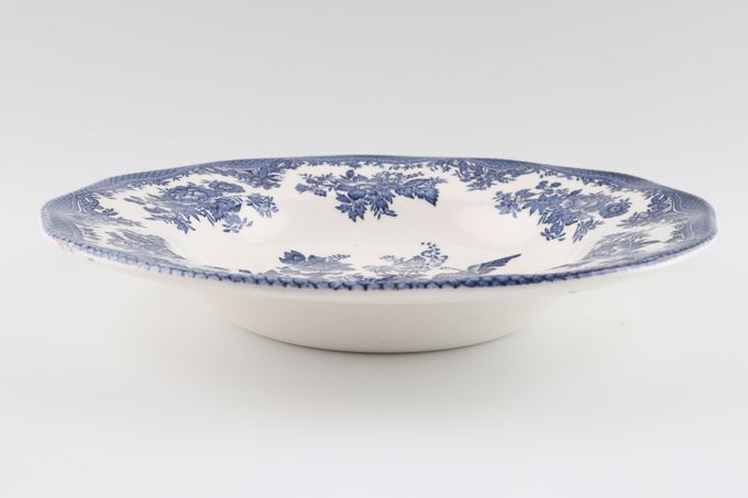 Wedgwood Asiatic Pheasant - Blue Rimmed Bowl 8 1/2""