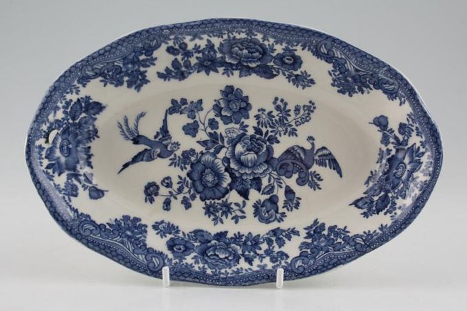 Wedgwood Asiatic Pheasant - Blue Serving Dish Can be used a s sauce boat stand 8""