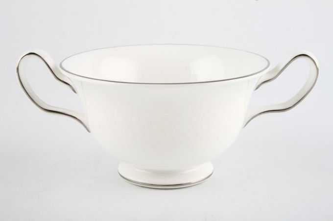 Wedgwood Silver Ermine Soup Cup 2 Handles