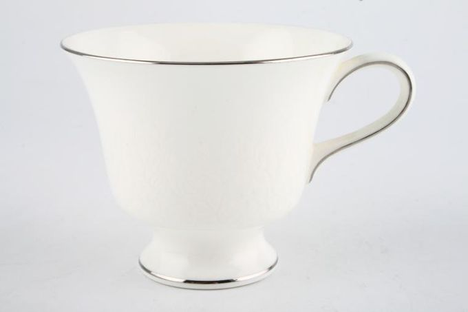 "Wedgwood Silver Ermine Teacup 3 3/4 x 3"""