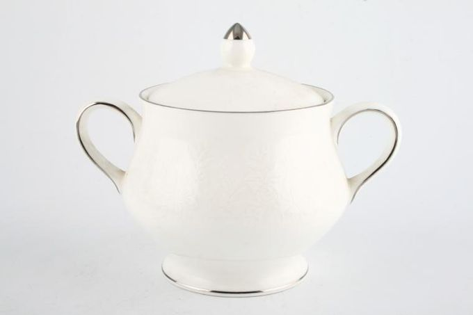 Wedgwood Silver Ermine Sugar Bowl - Lidded (Tea)