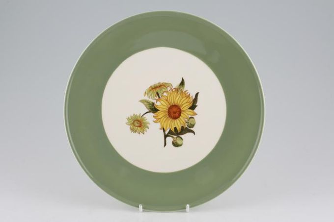"Wedgwood Sunflower Cake Plate round 9 3/8"""