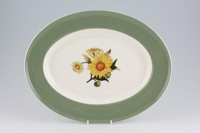 "Wedgwood Sunflower Oval Plate / Platter 13 3/4"""