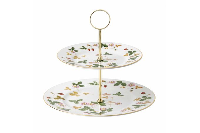 Wedgwood Wild Strawberry 2 Tier Cake Stand Gift Boxed