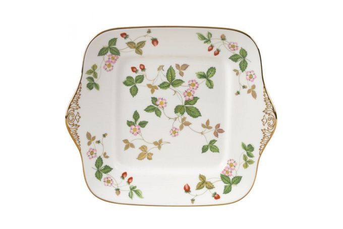 "Wedgwood Wild Strawberry Cake Plate square 11"""