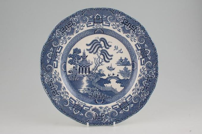 "Wedgwood Willow - Blue Breakfast / Salad / Luncheon Plate Wavy Rim 9 5/8"""